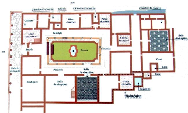 Extrêmement Vieux-la-romaine, la maison au grand péristyle WK29