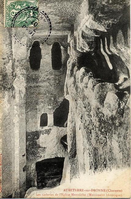 carte ancienne église aubeterre